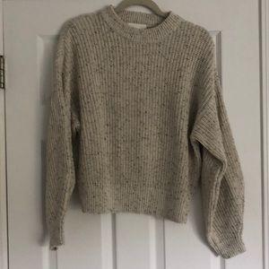H&M 100% Cotton Crewneck Ribbed Sweater